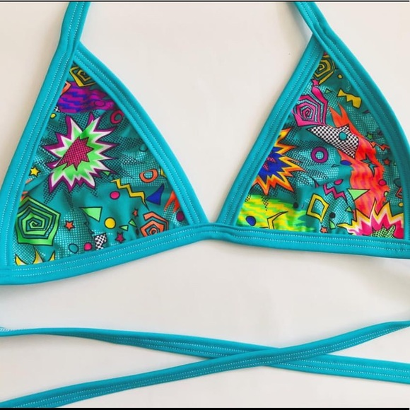 b8d80e6a17 Mi Gente Clothing Rugrats Wrap Bralette - Teal